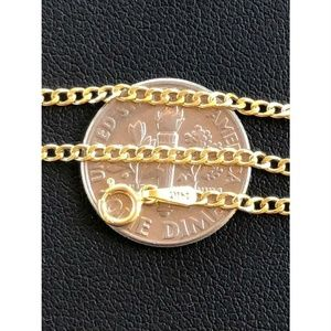HarlemBling 14k Solid Yellow Gold Cuban Link Chain